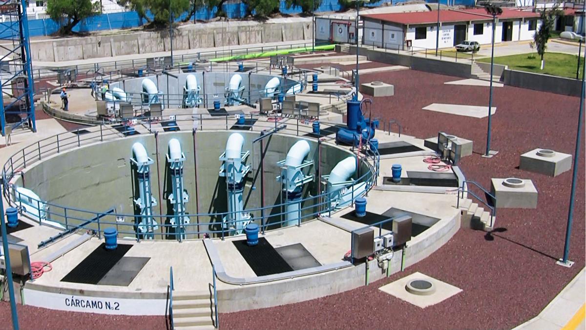 La station de pompage de La Caldera avec une hauteur de refoulement de près de 30 mètres.