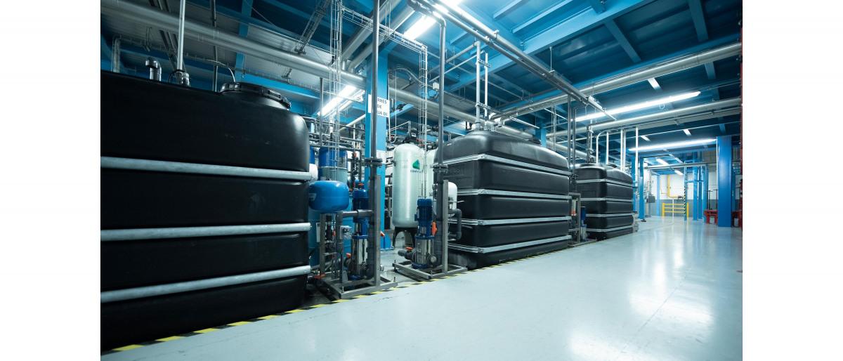 Serbatoi nel trattamento dell'acqua di raffreddamento