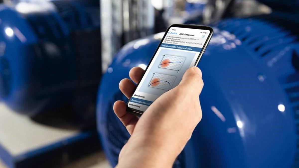 Smartphone con app KSB Sonolyzer®