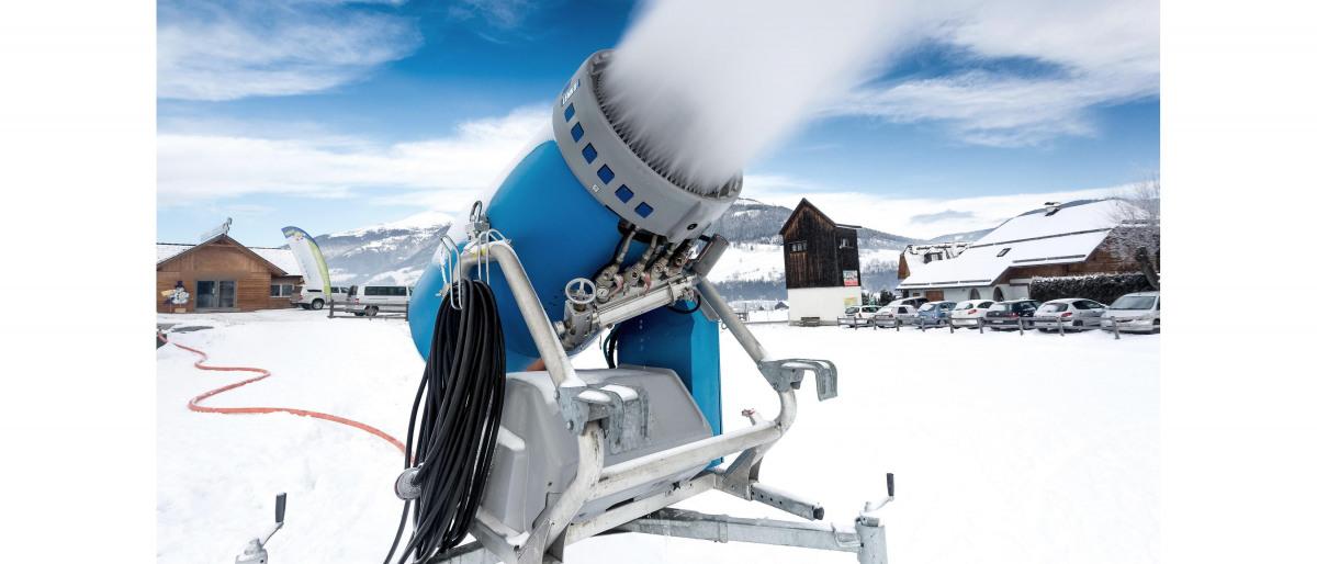 Snötillverkningsanordning med KSB-pumpar