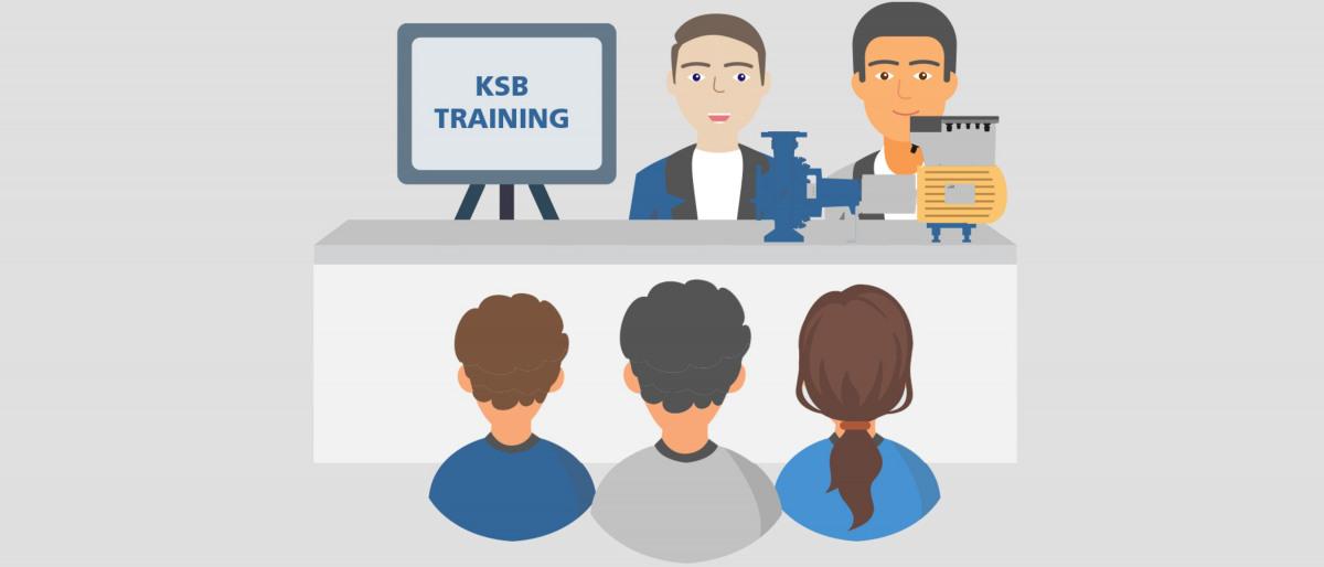 KSB-koulutuksiin osallistuvia henkilöitä