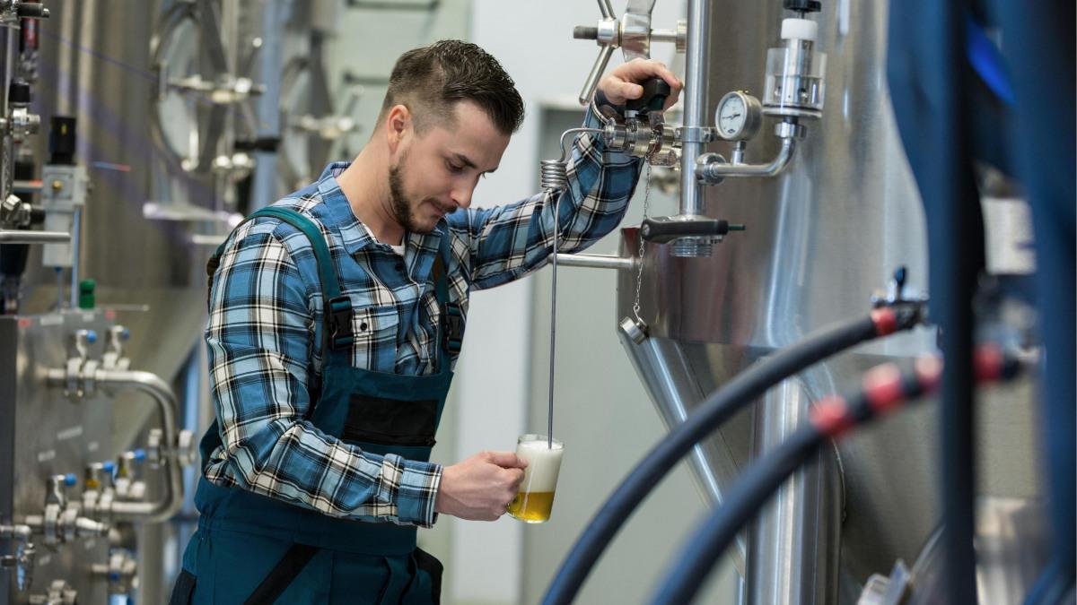 Pivovar odvzema testne vzorce