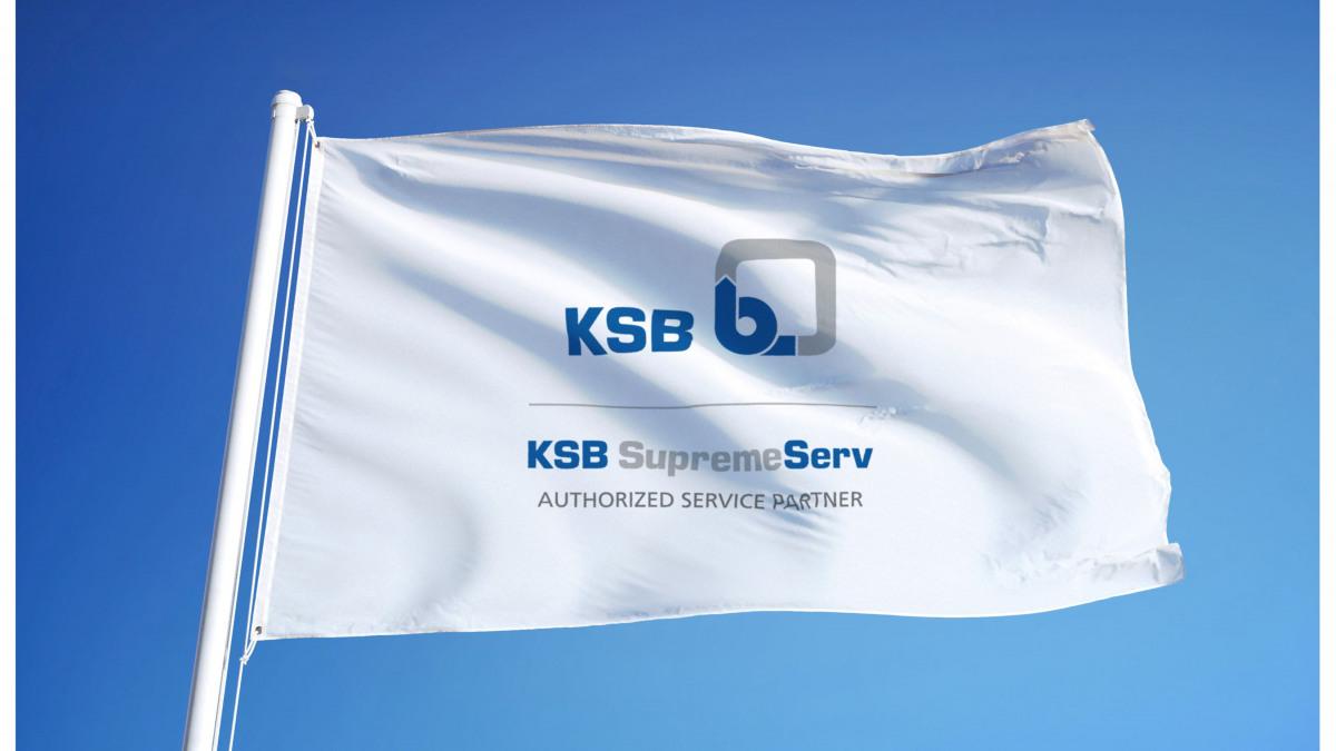 Zastave z znamko pooblaščenega servisnega partnerja KSB
