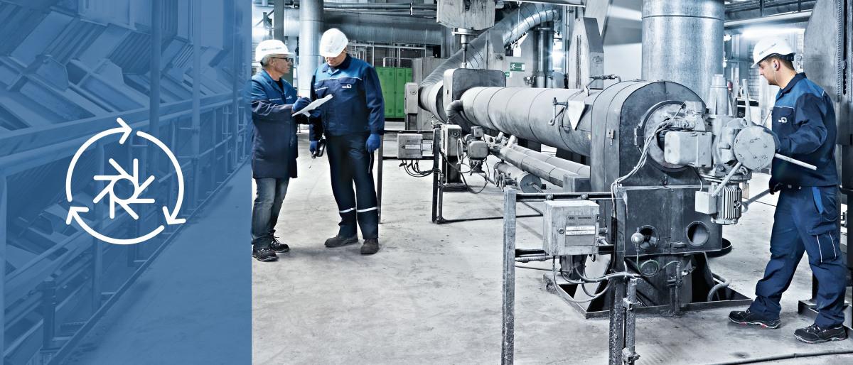 KSB-servicemontör under en revision i kraftverket
