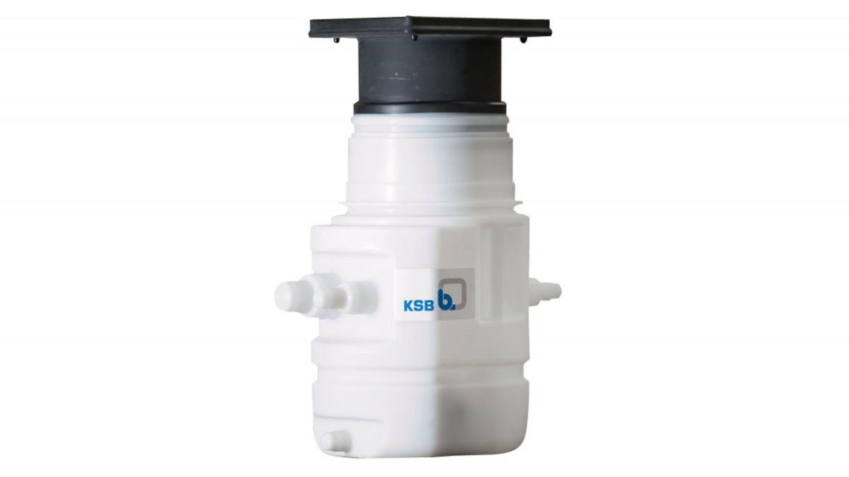 De KSB opvoerinstallatie voor afvalwater Ama-Drainer-Box 1 U