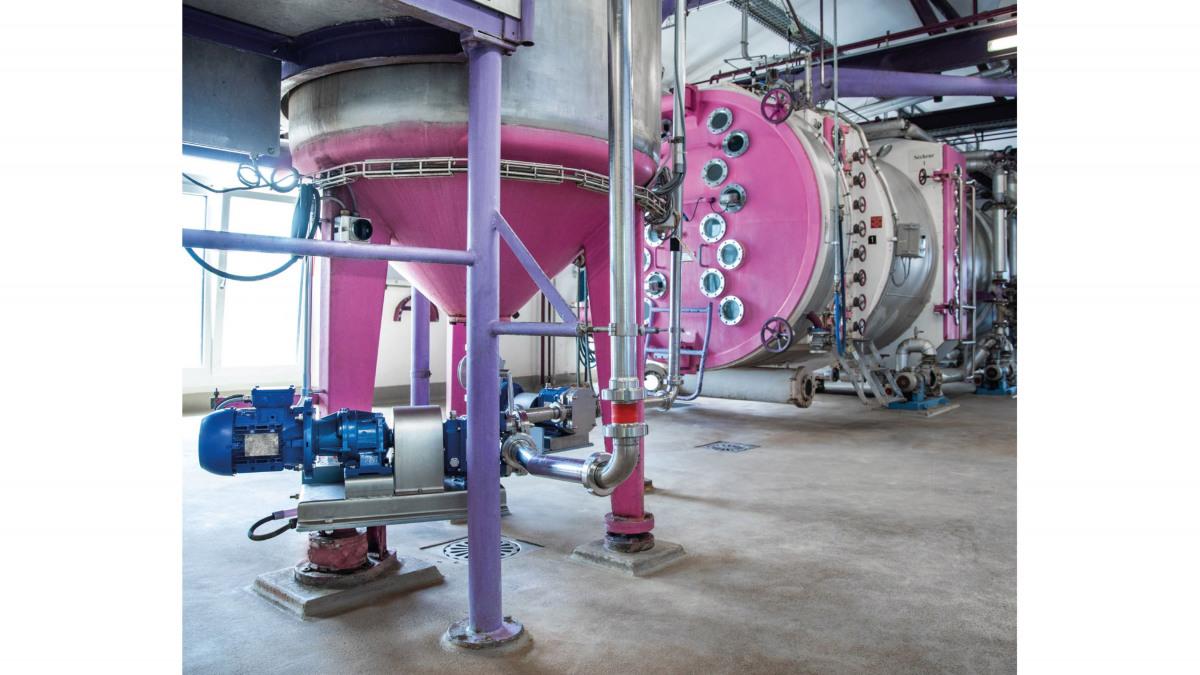 The Vitalobe rotary lobe pump at work