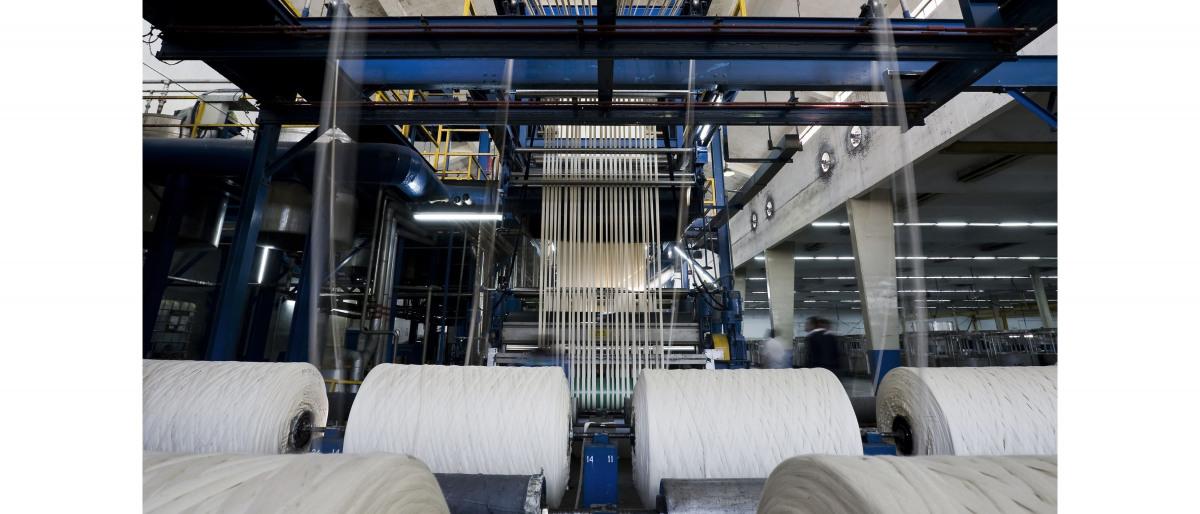 Installatie voor de productie van garen