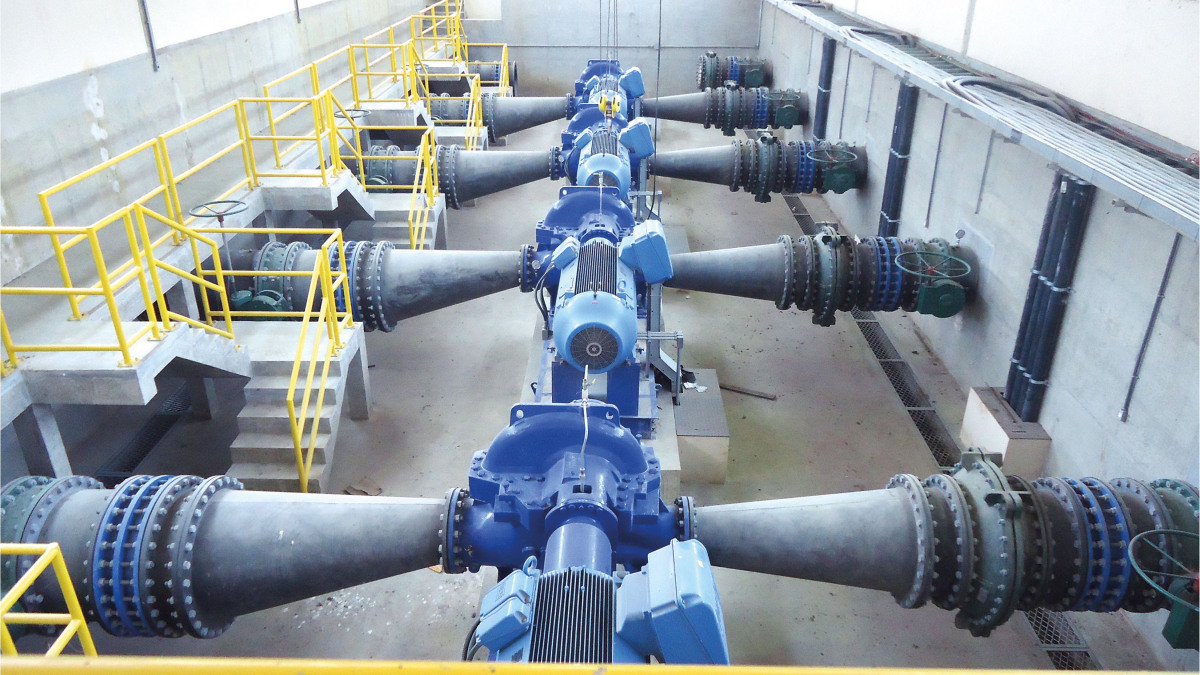 KSB Pumps located at the south coast of the São Paulo state