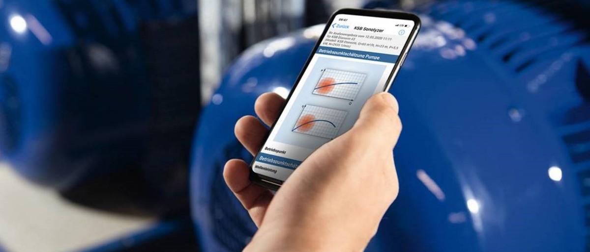 Chytrý telefon saplikací KSB Sonolyzer®
