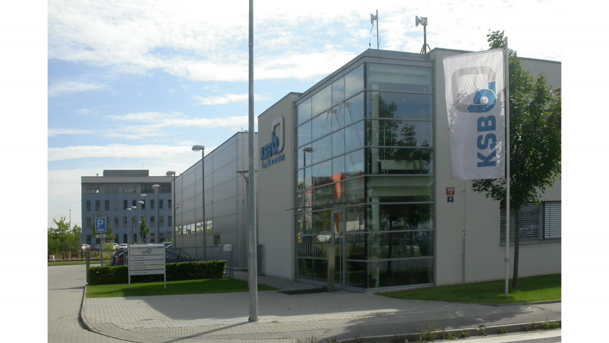 KSB head office in Prague, outside view