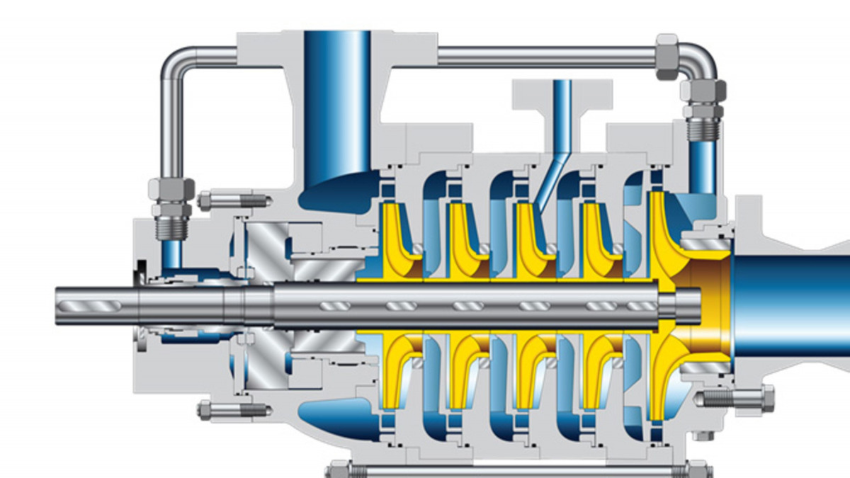 Layout of a typical multi-stage pump