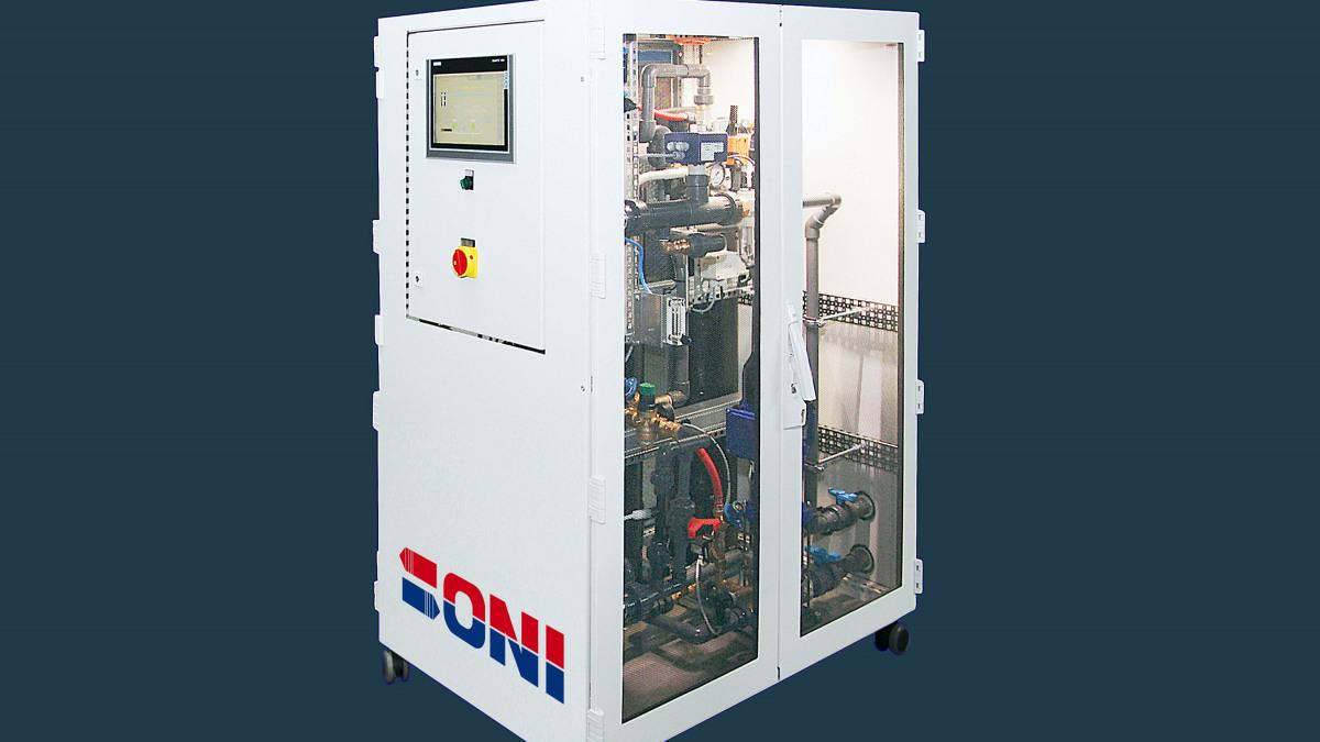 Die geschlossene Filterspülstation ONI-AquaClean