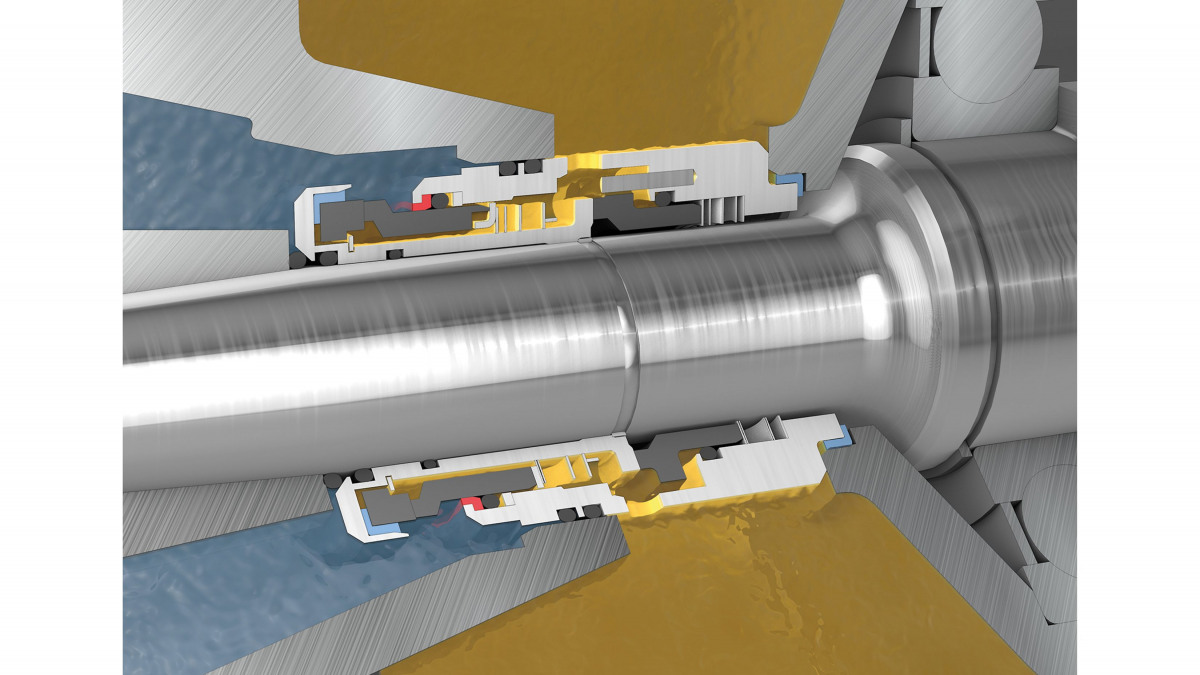Tandem mechanical seal with integrated quench pot