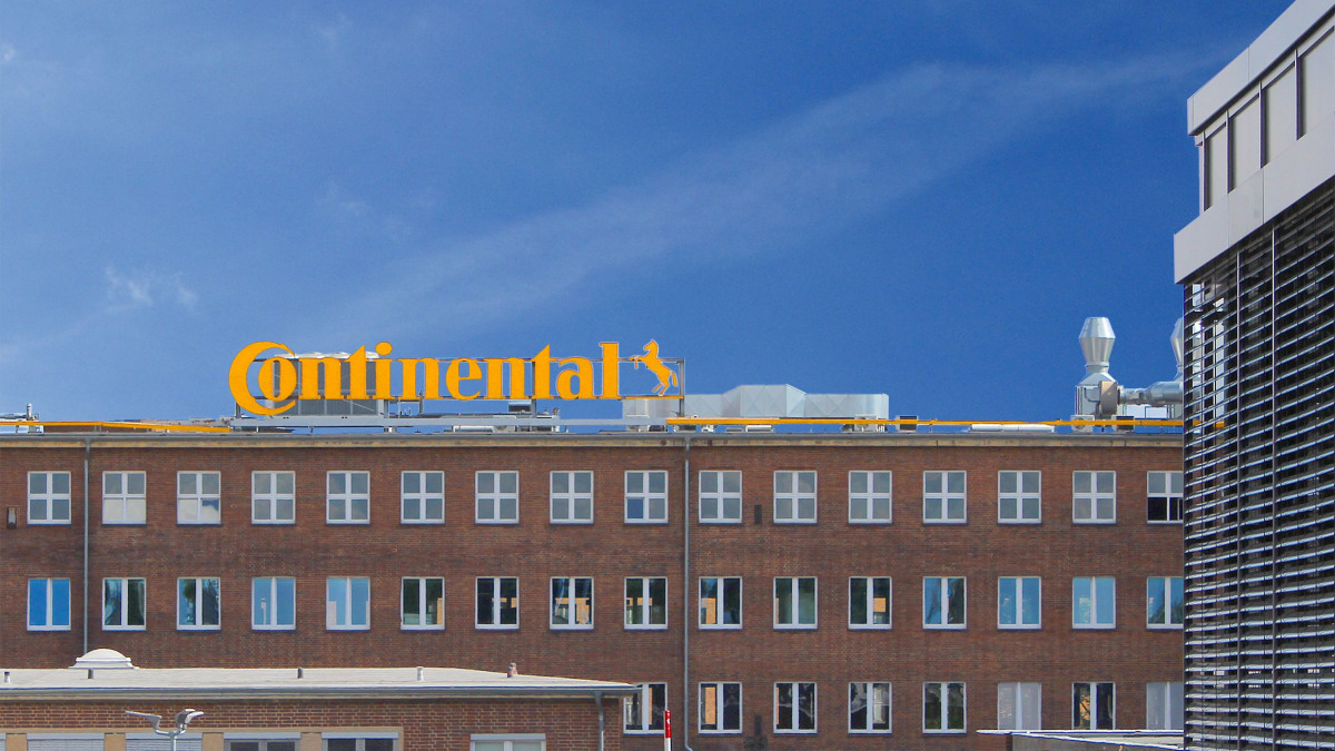 Vue extérieure des locaux de la société Continental AG à Hanovre