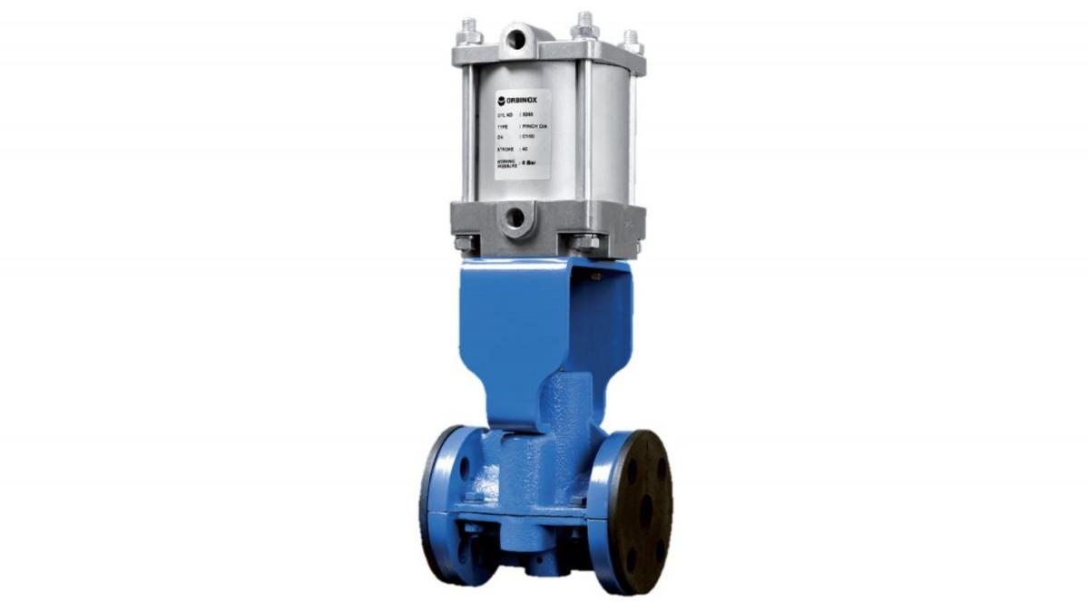 Orbinox PB pinch valve