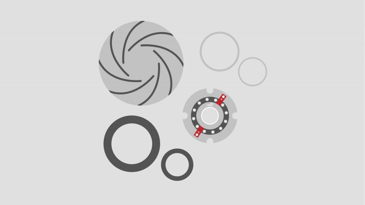 Pumpade ja ventiilide varuosade komplektid