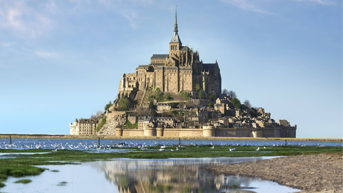 Mont St Michel; UNESCO; wastewater; effluent; pumping station; dry pit lifting station; Amarex KRT; frequency inverters;