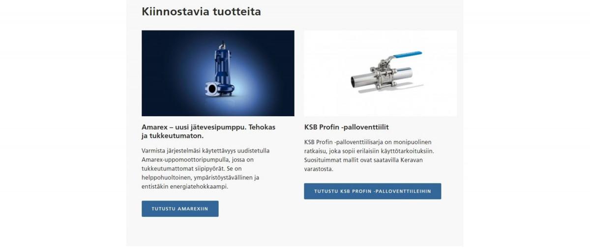 Nettisivut KSB Finland