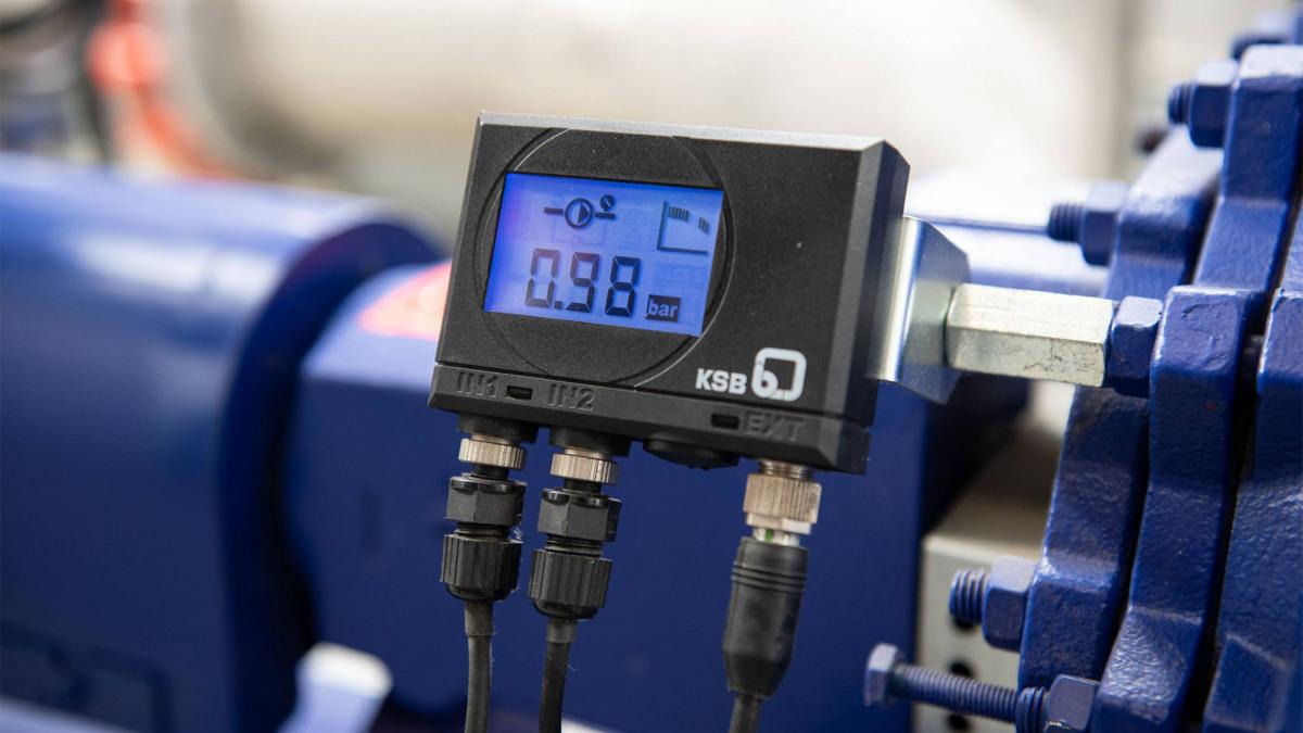 PumpMeter von KSB überwacht die Pumpen der Eta-Baureihe