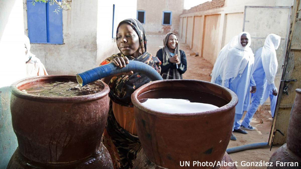 Wasser in der Wüste bedeutet Leben