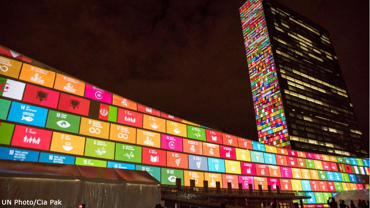 UN Hauptquartier am 70. Geburtstag der Vereinten Nationen