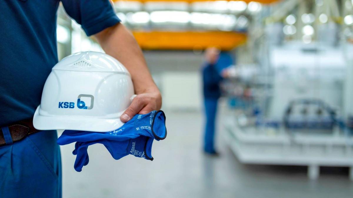 KSB legt viel Wert auf Sicherheit am Arbeitsplatz