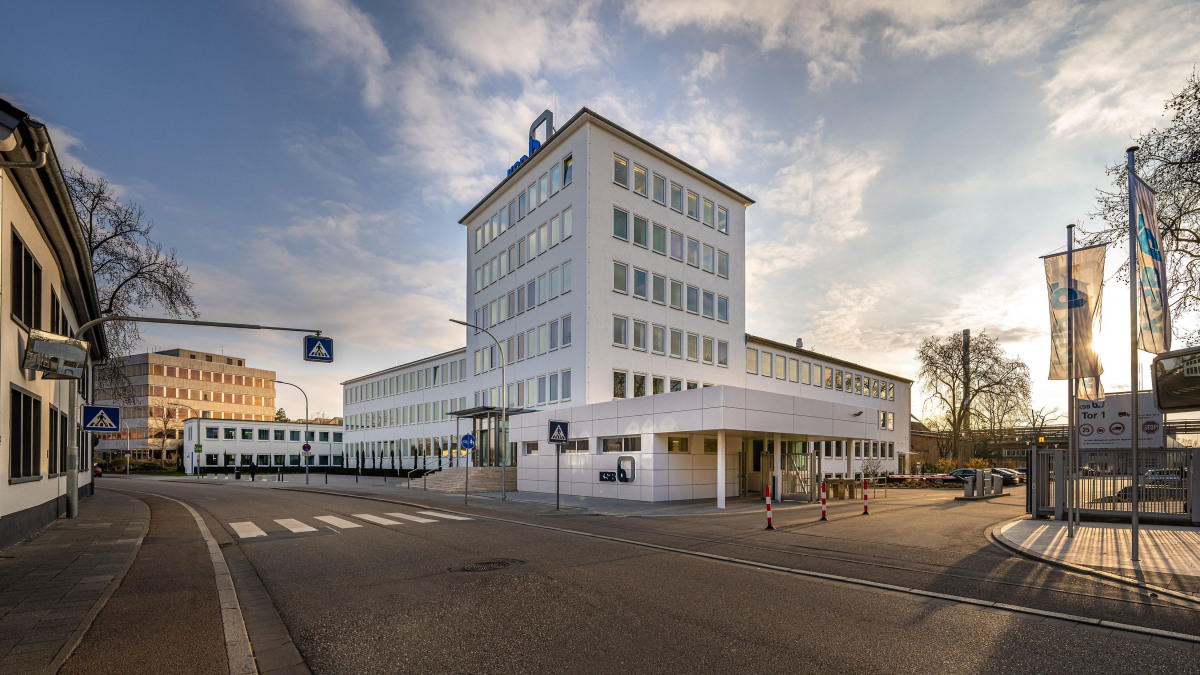 Das Hauptverwaltungsgebäude von KSB in Frankenthal