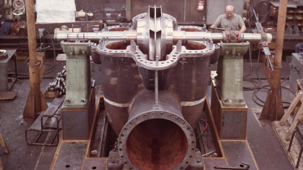 Die Pumpe RDL 900 in der Montage im Oktober 1963