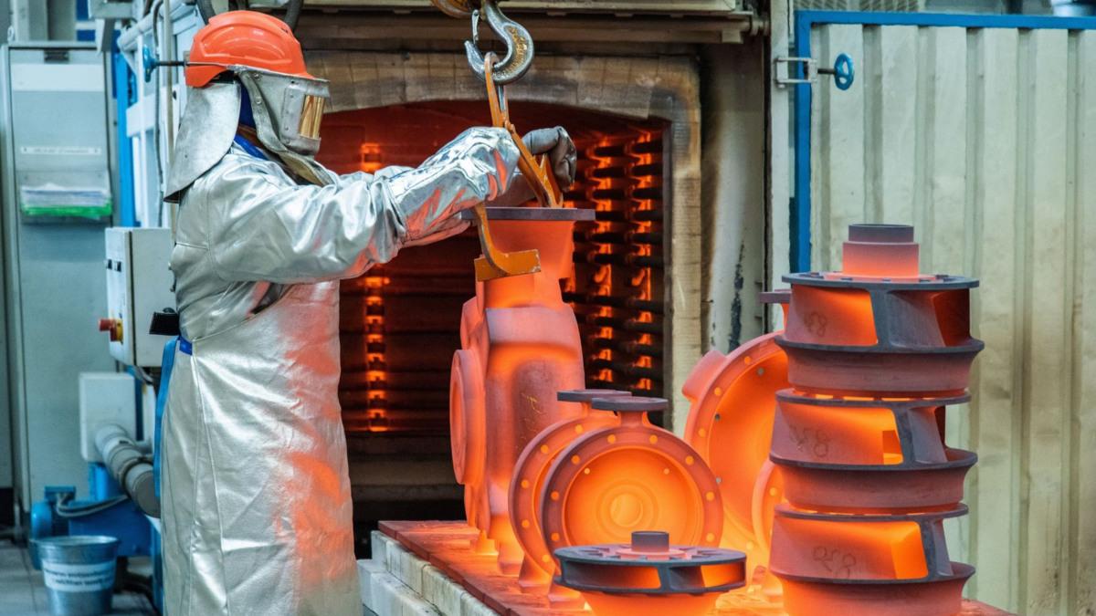 Wärmebehandlung von Gussbauteilen in der KSB-Gießerei Pegnitz