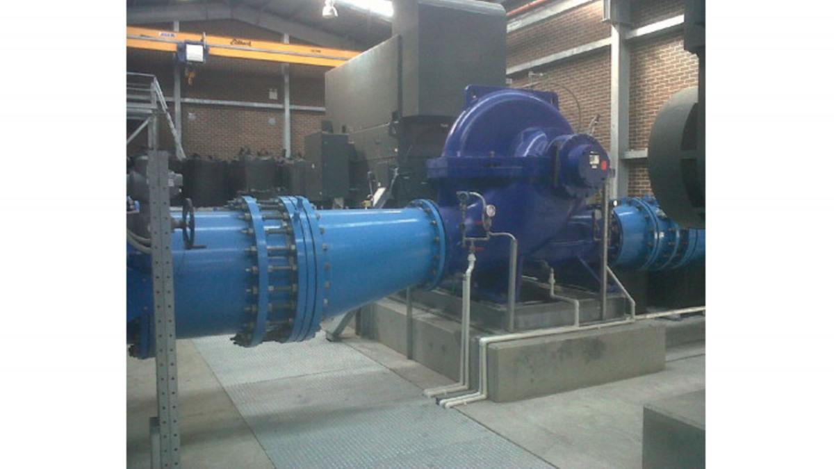 Gemeinsam haben die beiden Pumpstationen die Förderkapazität auf 160 Millionen Liter aufbereitetes Wasser pro Tag erhöht.
