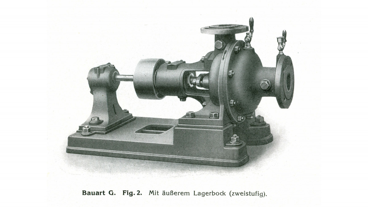 A historical ETA pump