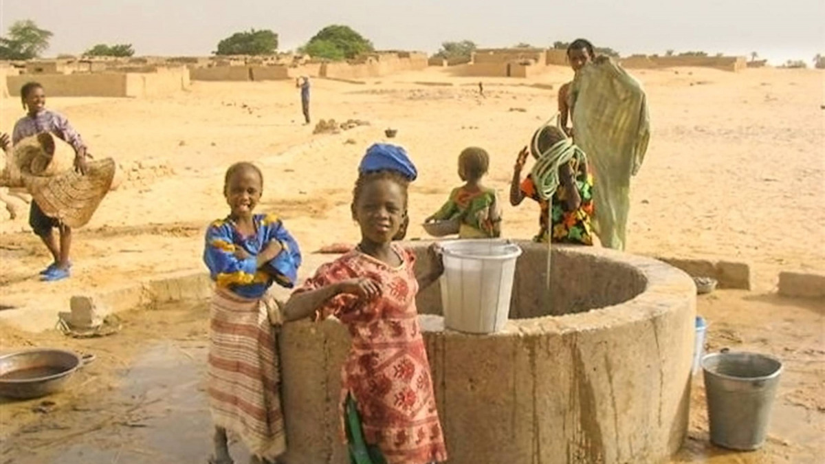 A well for the Tuareg in the Sahara