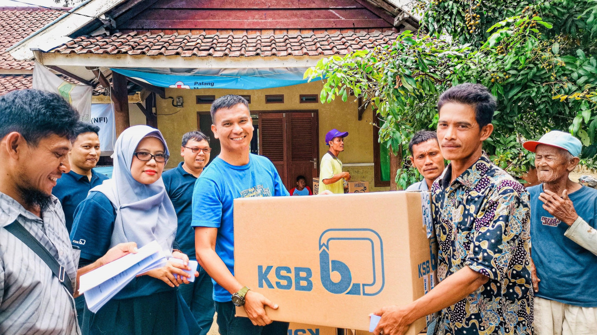 Disaster relief from KSB in Indonesia