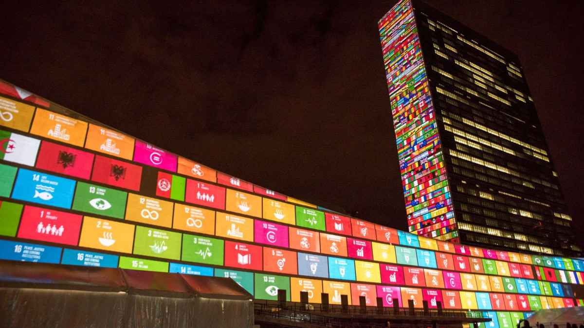 UN headquarters on the 70th anniversary of the United Nations