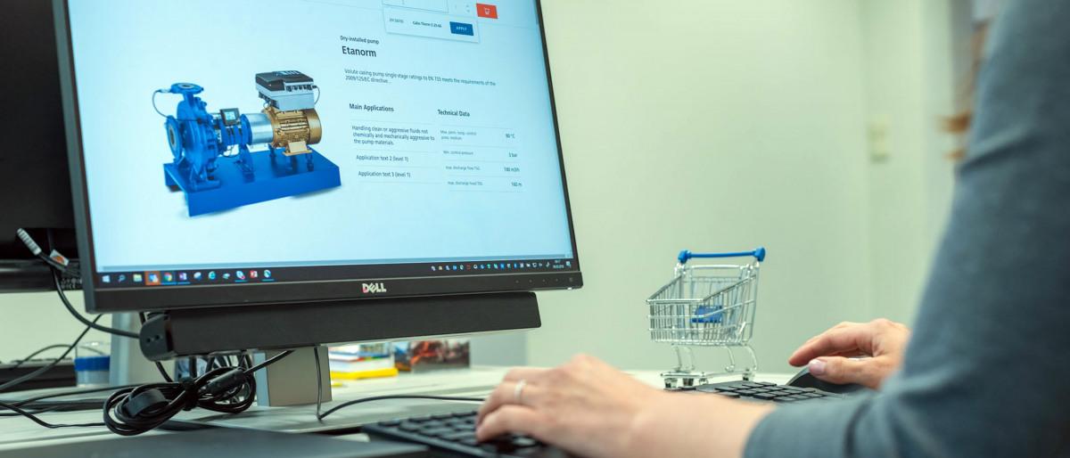 ny E2E-E-försäljningsportal i KSB-företagsgruppen
