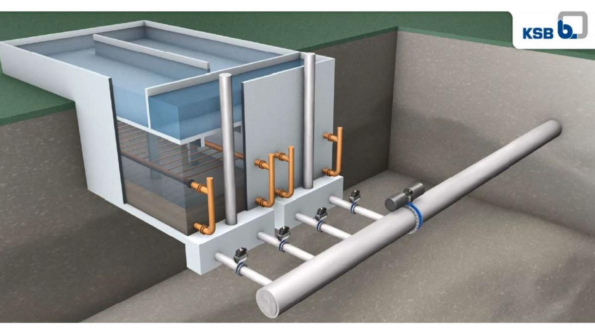 Exemple d'une station par filtration équipée avec les robinets KSB