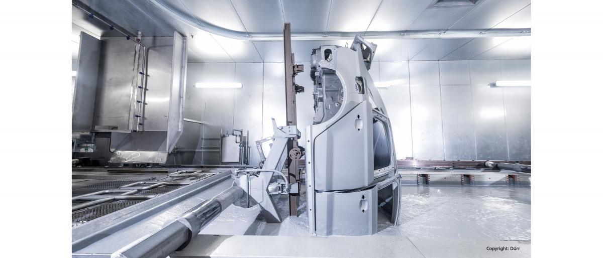 Transporte de pintura para recubrimiento catódico por inmersión en sistemas de pintura muy complejos