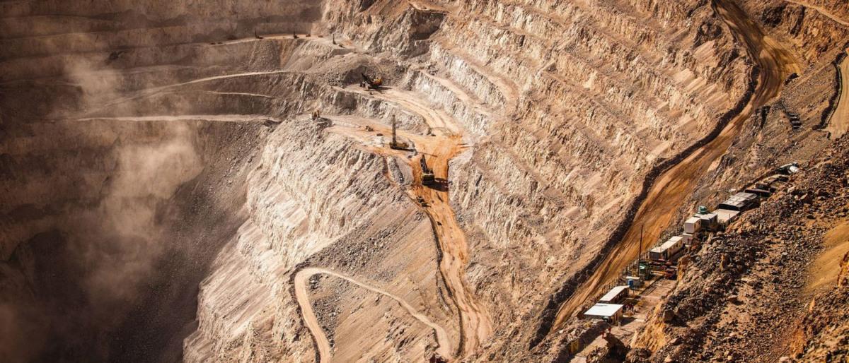 Tagebau in einer Kupfermine