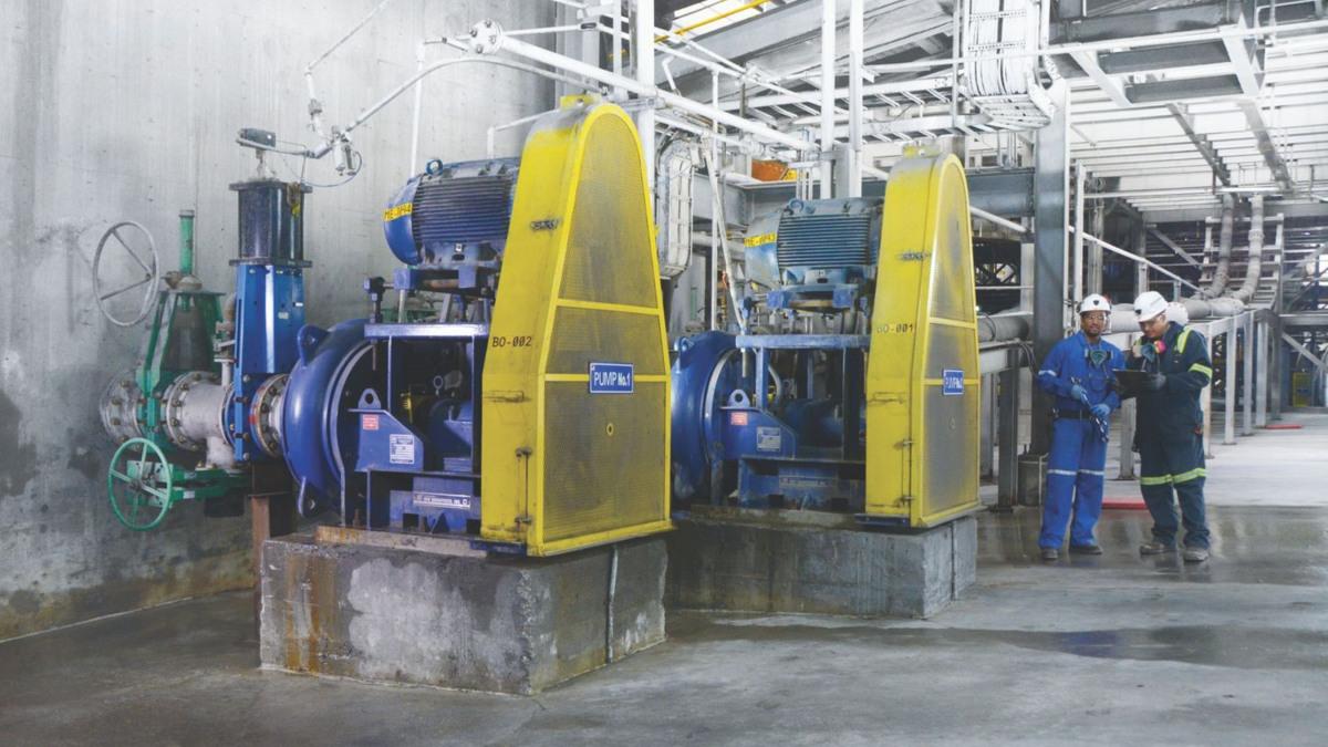 Eine Feststoffpumpe von KSB für den Bergbau