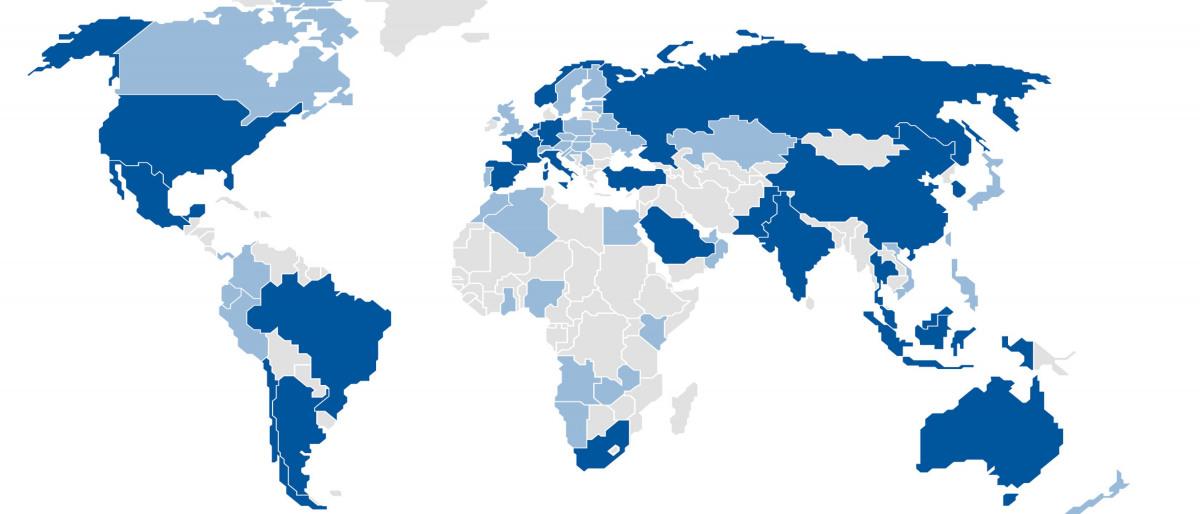Weltkarte mit KSB-Standorten