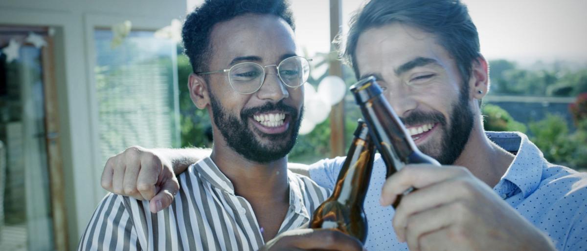 Martin und Thomas beim Feierabendbier