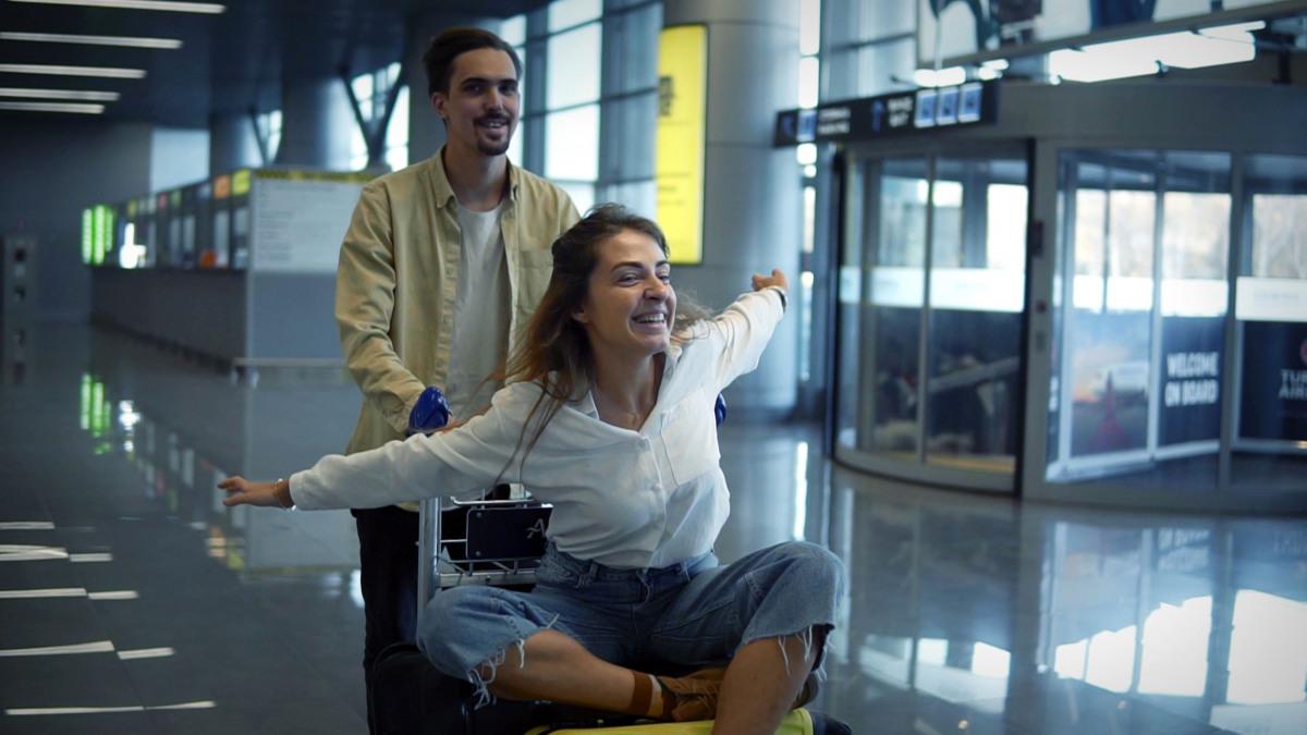 Ute und Klaus am Flughafen