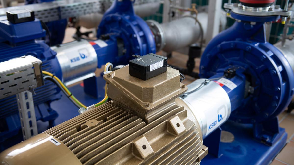 Photo de l'installation de pompage d'eau pure dans l'usine d'eau de Stadtlohn-Hundewick