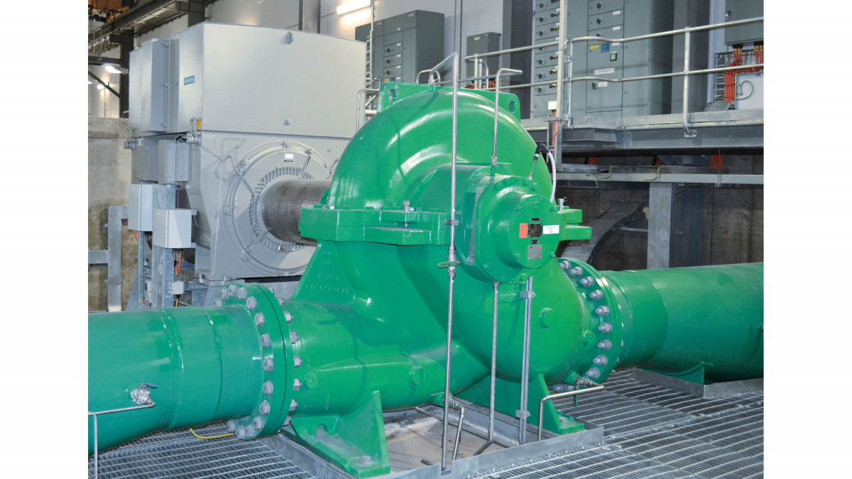 KSB RDLO 600-1075 A volute casing pump in operation at the Ravenswood Pump Station, Australia