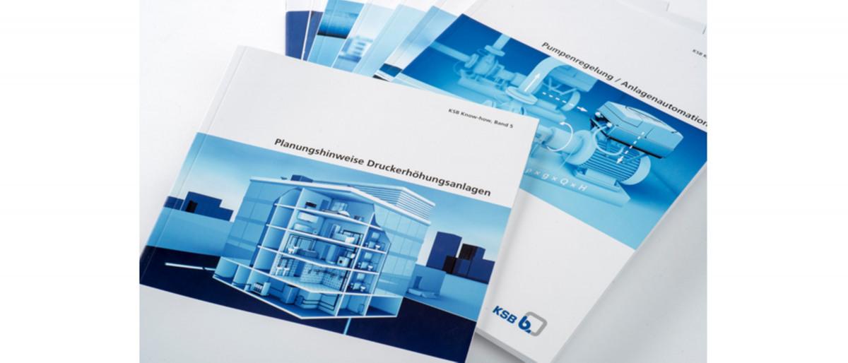 Diferentes folletos informativos de KSB
