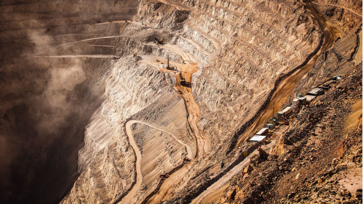 Open pit copper mine