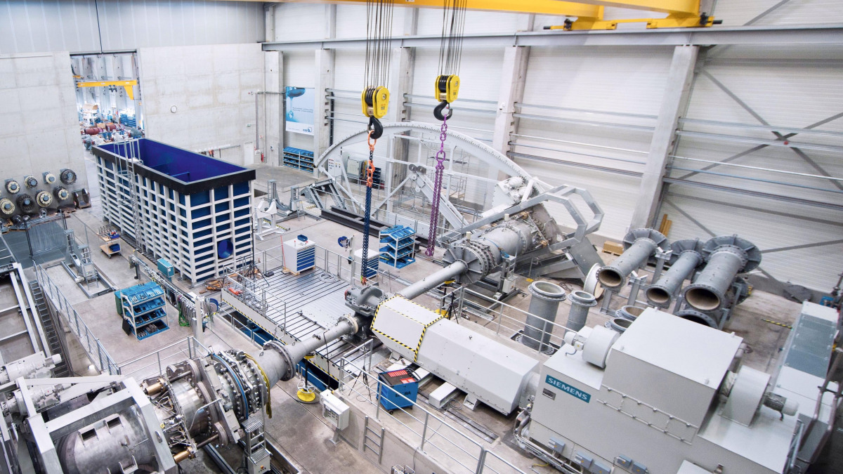 Test facility for large pumps in Halle (Saale)