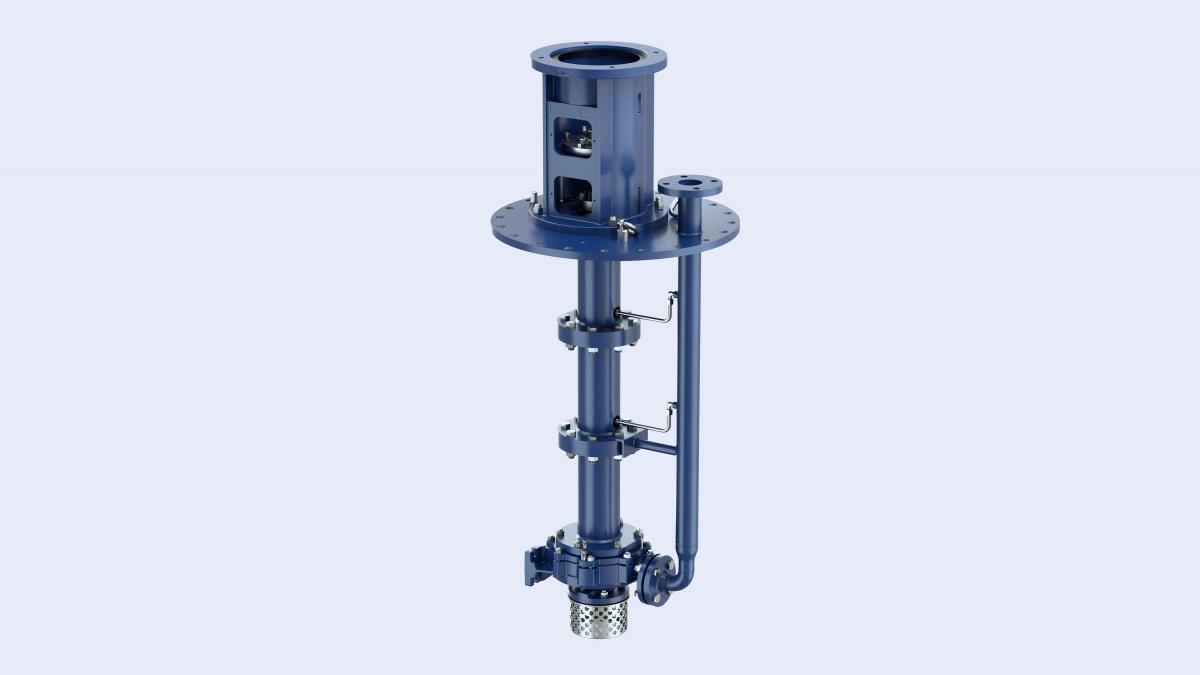 Die vertikalen Behälterpumpen der Baureihe Estigia – für den Einbau in unter atmosphärischem Druck stehenden Behältern.
