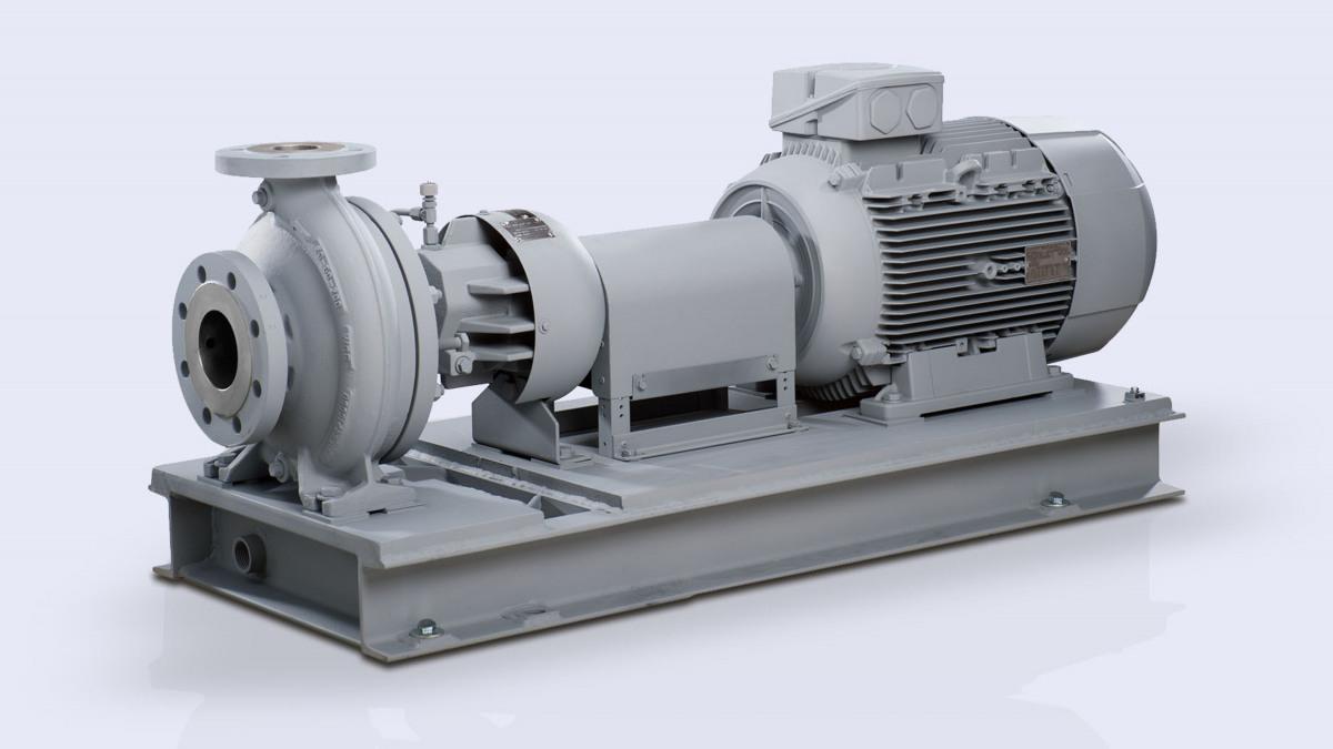 Die Heißwasser- und Wärmeträgerpumpe HPK-L garantiert die Austauschfähigkeit und Zuverlässigkeit.