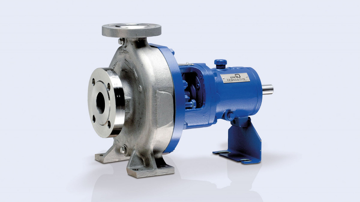 The CPKNO standardised chemical pump to ISO 5199 with semi-open impeller